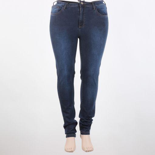 Yoek blauwe spijkerbroek stretch broek smal model