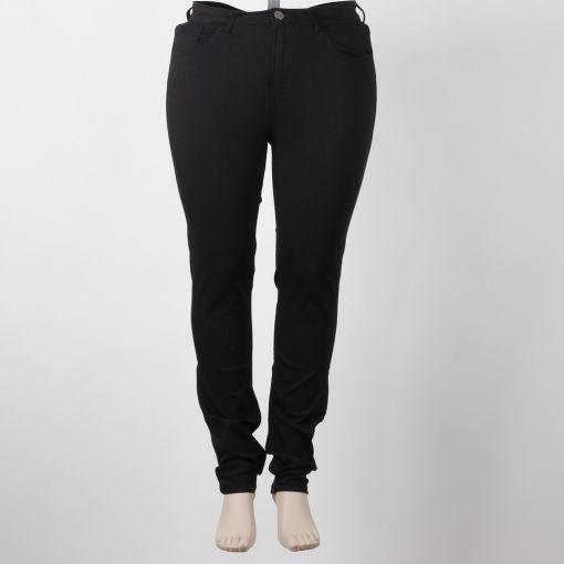 Zwarte stretch broek smal model Yoek