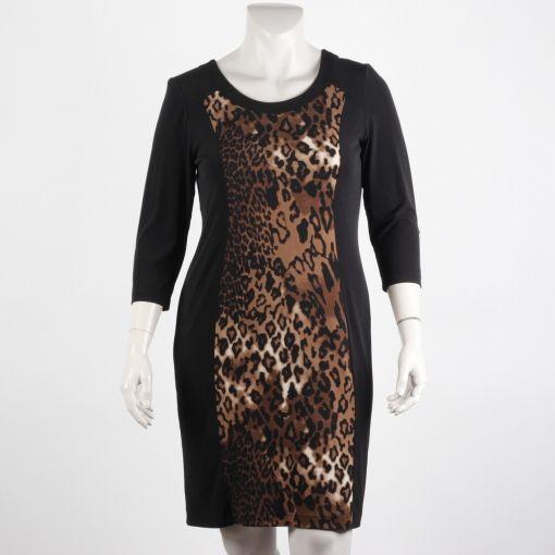 Georgedé jurk zwart panterprint