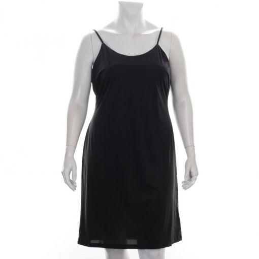 Kirsten Krog Design zwarte glanzende jurk