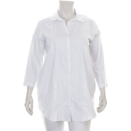 Luukaa witte blouse met stretch