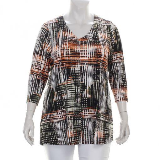 KJ-Brand v-hals shirt grafische print