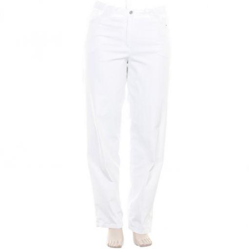KJ Brand roomwitte broek met wijder bovenbeen
