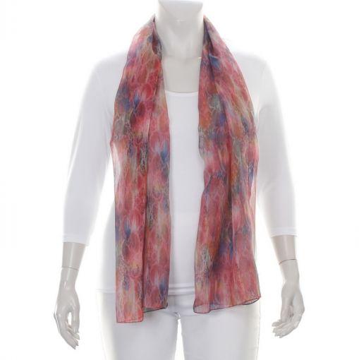 Kleurrijke shawl met slangenprint