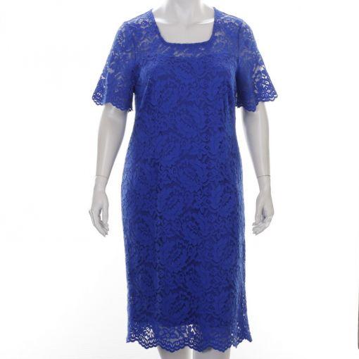 Godske kobaltblauwe jurk met kant