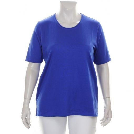 Netwalk kobaltblauwe fijn gebreide pullover
