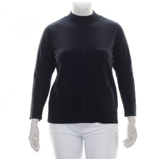 Signature zwarte pullover met zakjes