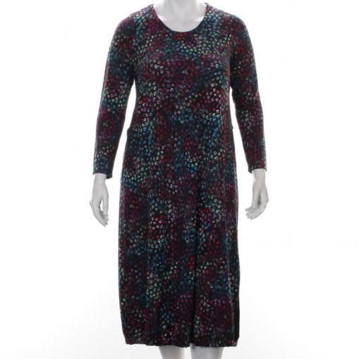 Aïno jurk relief kleurrijke stippen print