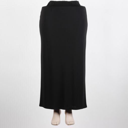 Q'neel zwarte lange rok recht model