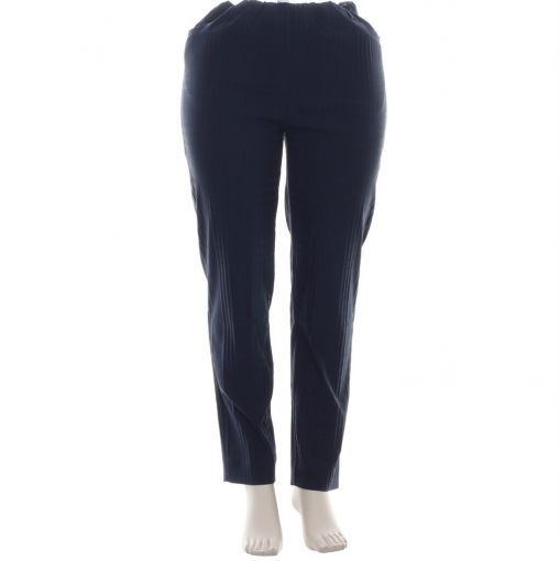 Laurie blauwe broek met geruite reliefprint