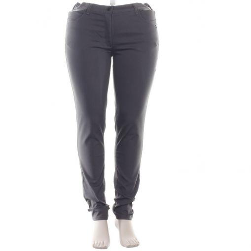Laurie donkergrijze broek smal model
