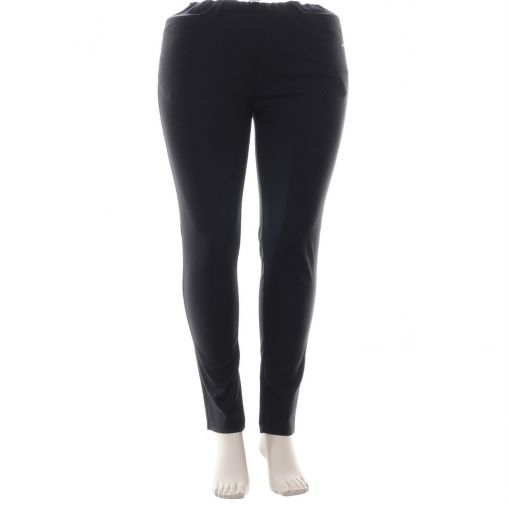 Laurie zwarte printpantalon slimfit model Grace
