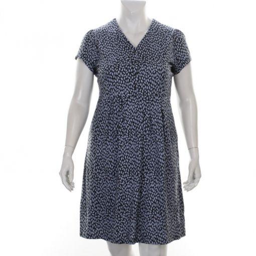 Signature blauwe jurk met lichtblauwe print
