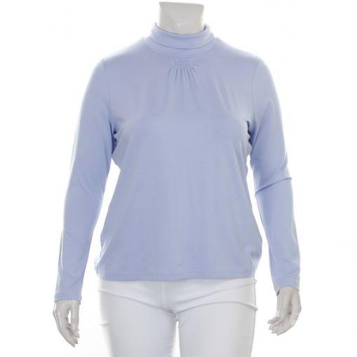 Erfo lavendelblauw shirt met col
