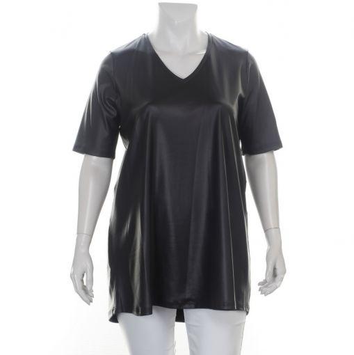 Only-M zwart A-lijn leather look shirt