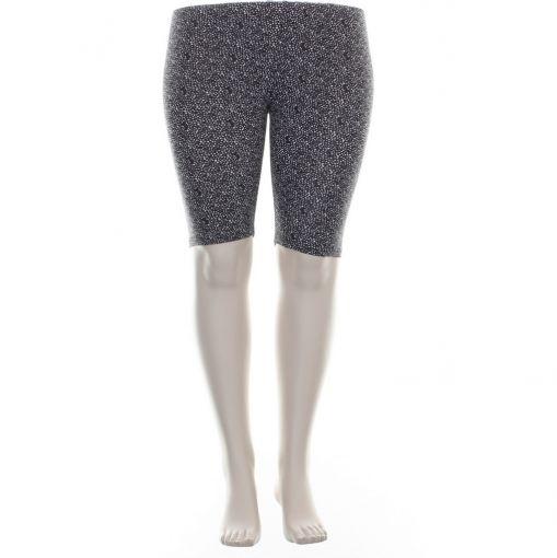 Ciso korte legging met zwart witte stippenprint