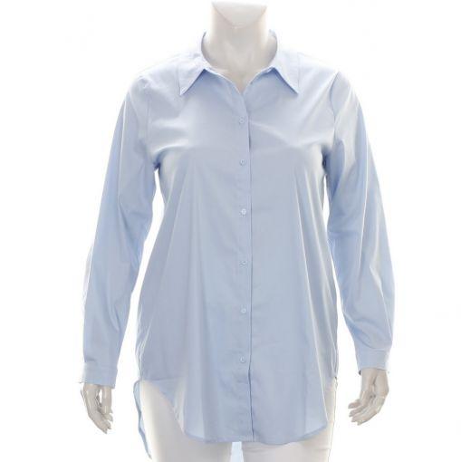 Sangaard lichtblauwe katoenen blouse