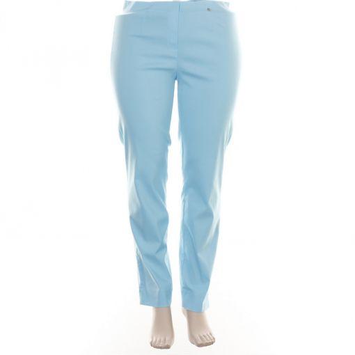 Robell lichtblauwe slimfit broek model Marie