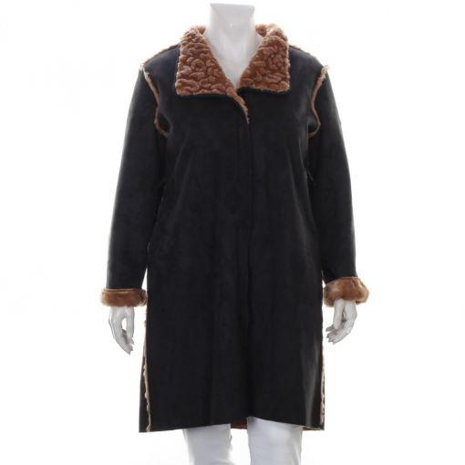 Loft zwarte suedine jas teddy gevoerd