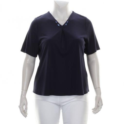 Godske blauw shirt met versierde halslijn met studs
