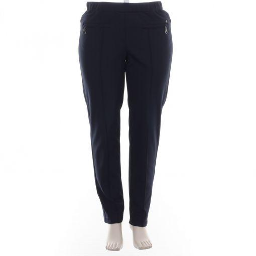 KJ-Brand blauwe broek met opgestikte naad model Jenny