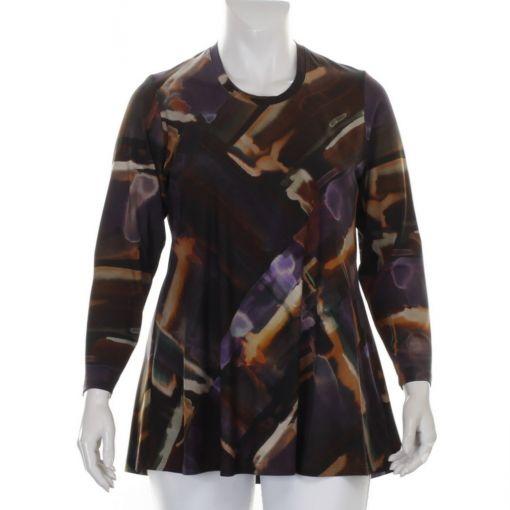Q'neel shirt divers gekleurde aquarelprint