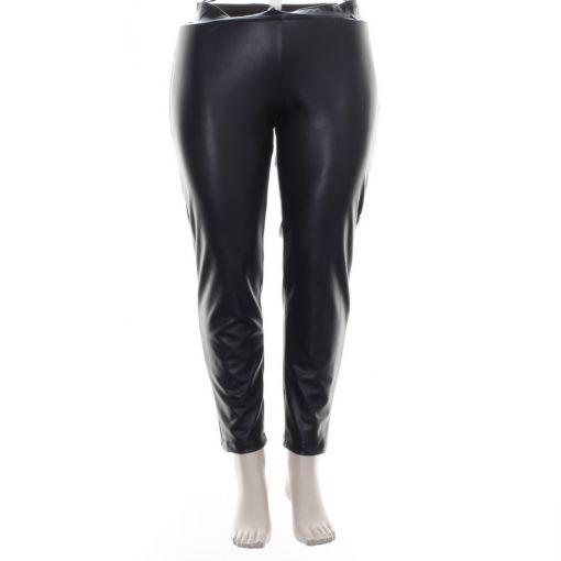 Mat zwarte broek met coating