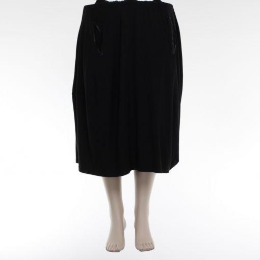 Nör zwarte rok met imitatie leer en zakjes