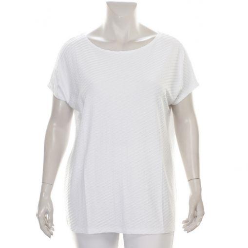 Yoek wit shirt met reliefprint