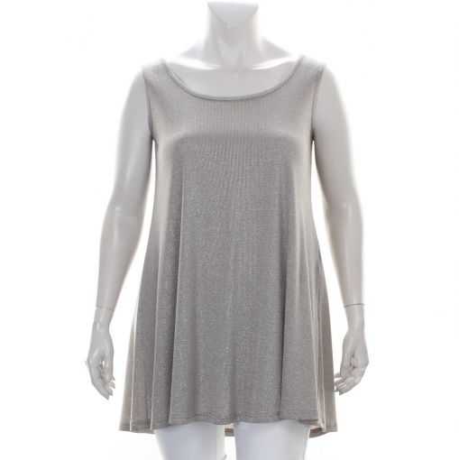 Only-M glinsterende taupe top