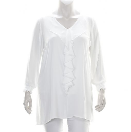 Only-M roomwitte roezel blouse