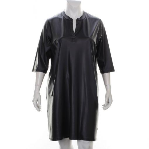 Only-M zwarte jurk met coating