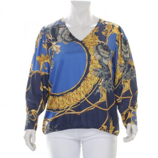 Open End blauwe blouse met nautische print