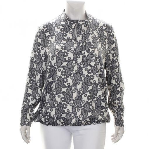 Verpass blouse paisley print ecru blauw