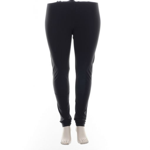 Plus Basics zwarte travelstof legging