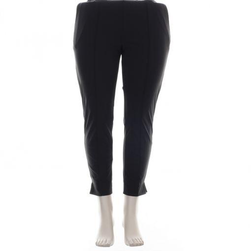 Plus Basics zwarte enkellange broek met opgestikte naad