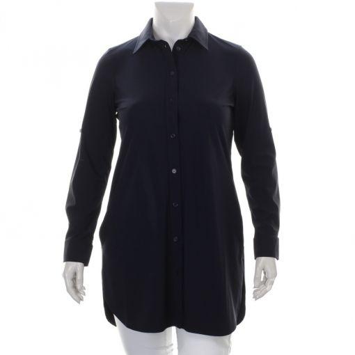 Plus Basics lange donkerblauwe blouse