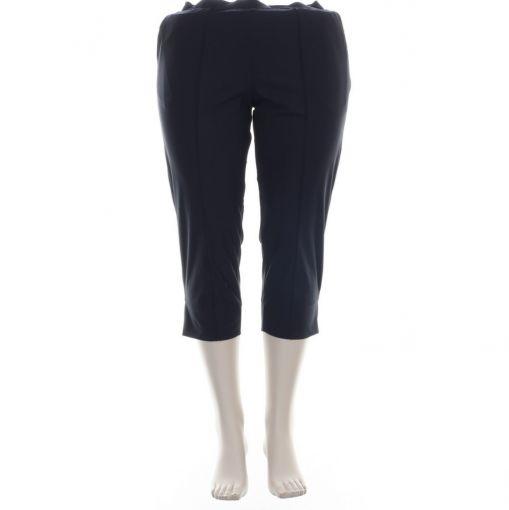 Plus basics blauwe capri broek travelstof