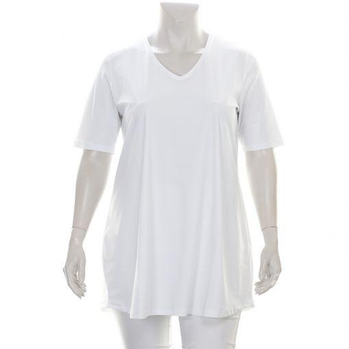 Plus Basics wit shirt met A-lijn