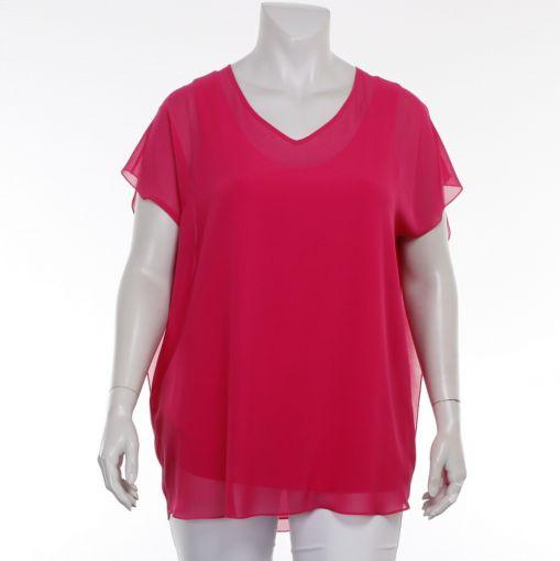 Q'neel roze voile blouse