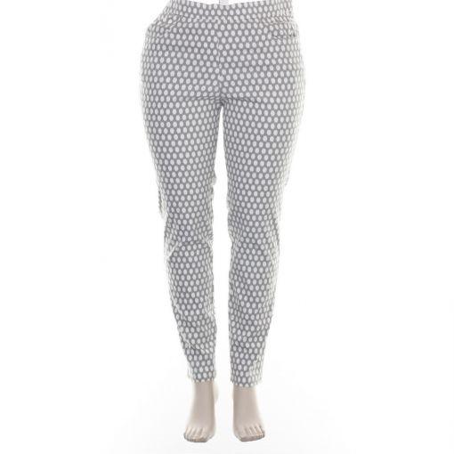 Adelina taupe broek met witte stippen