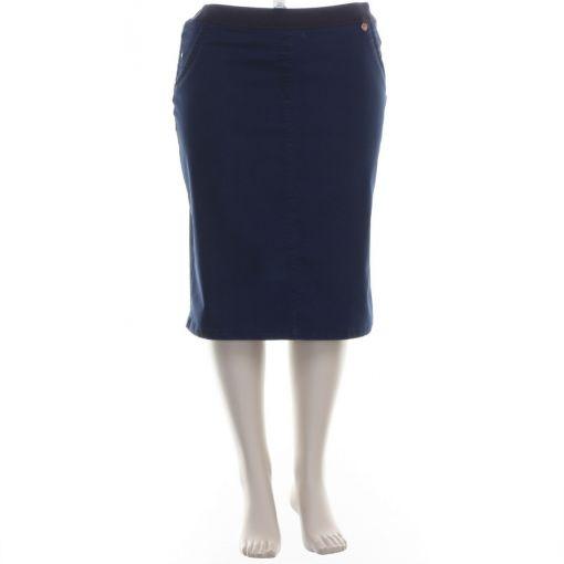 Request donkerblauwe rok met sierplooien
