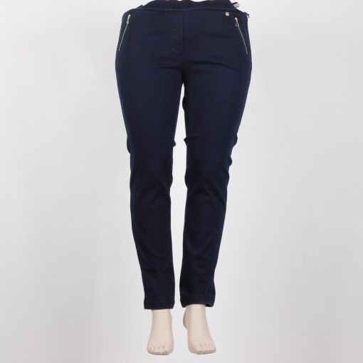 Robell donkerblauwe jeans super slim fit