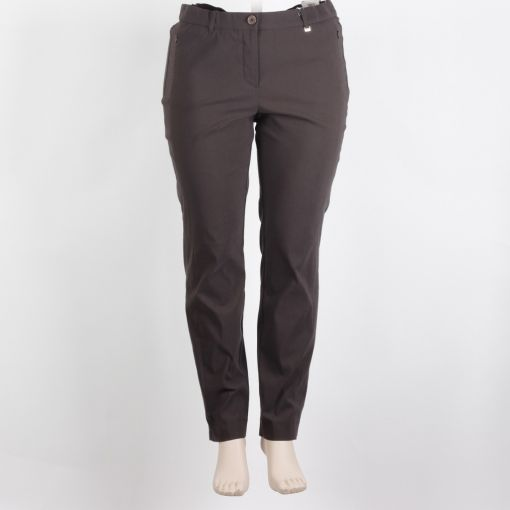 Samoon donkergrijze pantalon model Betty