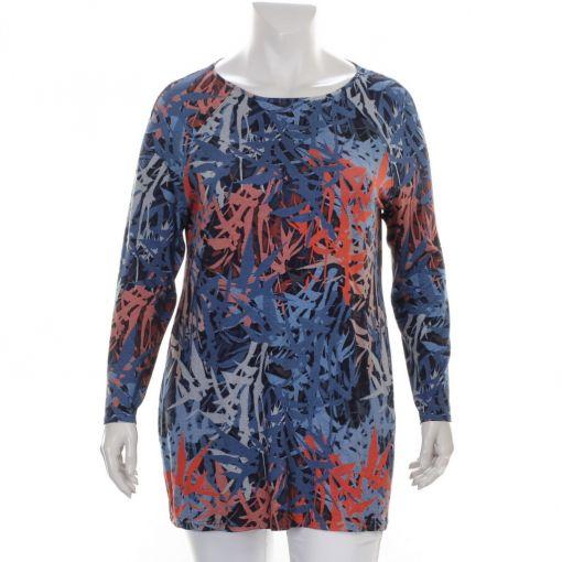 Seidel Moden shirt brique en blauwe print