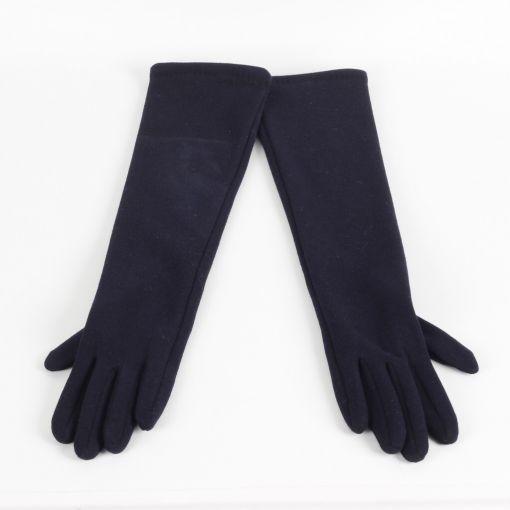 Sergio de Rosa lange blauwe stretch handschoenen