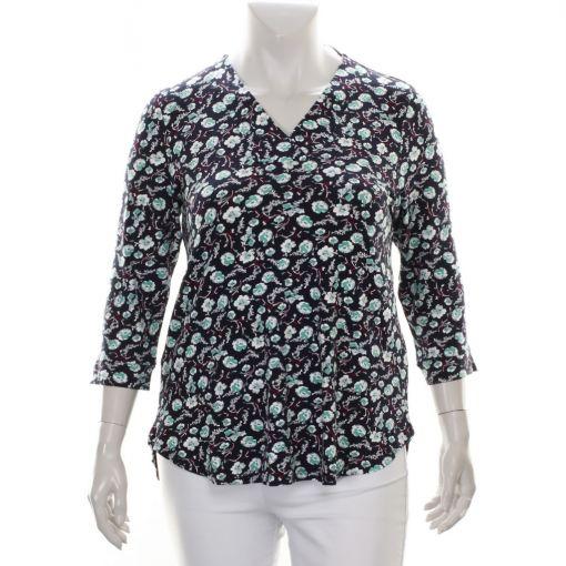 Ciso blauw shirt bloemenprint