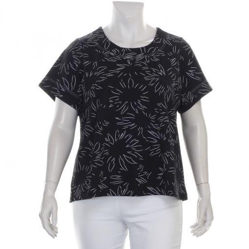 Studio zwart wit printshirt met A-lijn