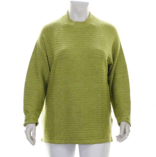 Signature groen gestreepte pullover