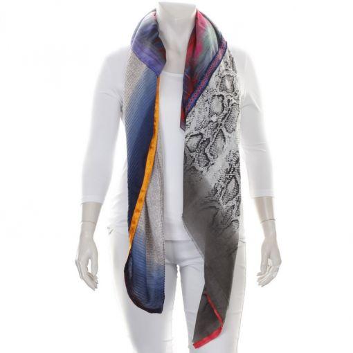 Solito shawl slangenprint en kleurrijk